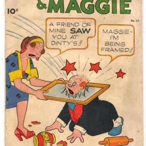 Accents - Antique 1927 Jiggs & Maggie Cobalt dish
